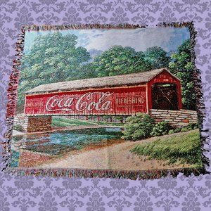 Coca Cola bridge Jim Harrison throw blanket 50x60